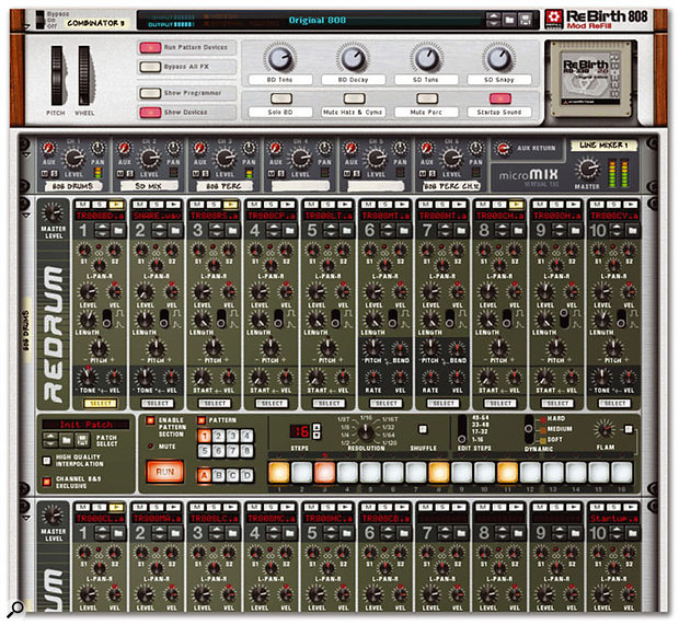 Propellerhead salute their breakthrough software with the Rebirth Mod Refill.