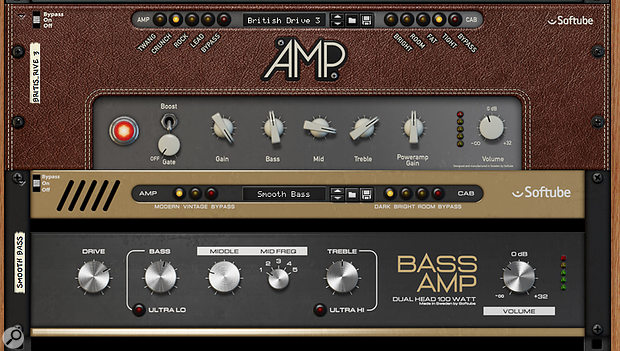 4. Reason's built-in guitar and bass amp units are built by the excellent Softube.