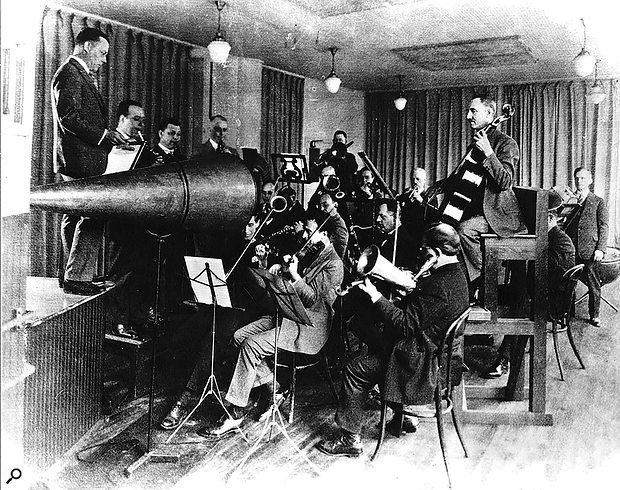 The earliest orchestral recordings were captured acoustically, and that approach's technical limitations had a  huge impact on how the orchestra needed to be configured for recording.