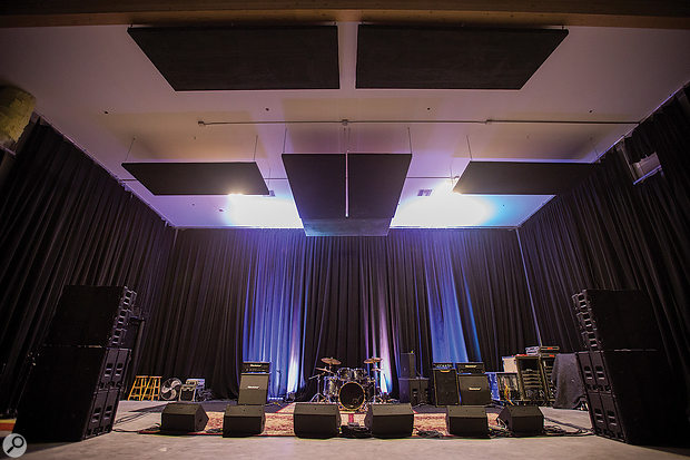 East Hollywood's Swing House facilities are used by pro-audio firm Sound Marketing — among whose clients are Harman, hence the JBL-equipped rehearsal rooms.