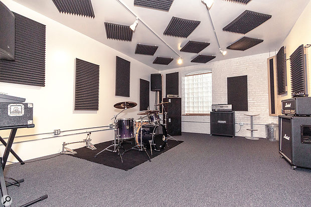 Even crowded cities like New York have their own dedicated rehearsal spaces — pictured is one of the suites in Williamsburg's Music Garage.