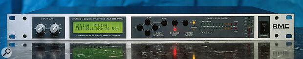 RME ADI96 Pro front panel.