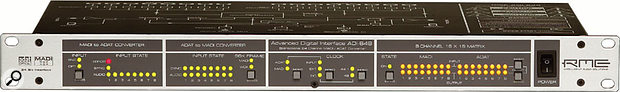 RME's Hammerfall DSP MADI card, combined with the ADI648 MADI-to-ADAT converter, makes for a powerful I/O system capable of handling up to 64 simultaneous channels.