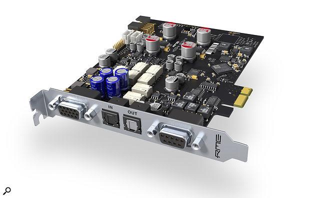 RME HDSPe AIO Pro PCI Express card.
