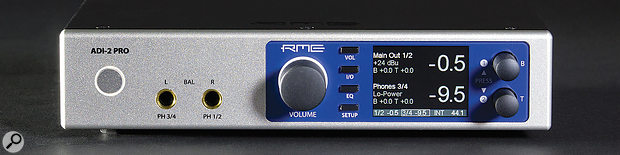 RME ADI-2 Pro front panel.