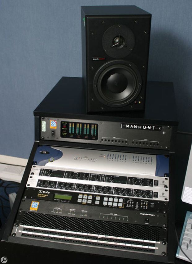 Craig's recording and editing system is based around a Digidesign Pro Tools rig with 888/24, HD96 and 882 interfaces. Between those are Behringer Ultrafex II and Ultra Q, and the Dolby Pro Logic II Gaming Encoder used to render the surround elements for the GTA: SA soundtrack.