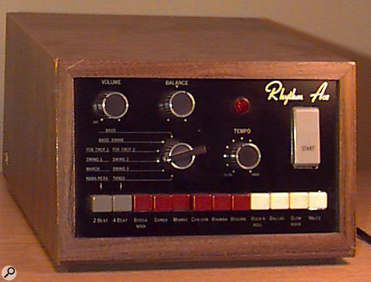 Ace Electronics' first commercial product, the unsuccessful R1 Rhythm Ace.