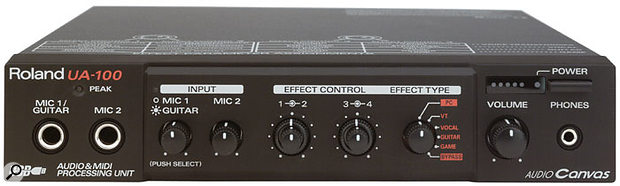 The Edirol UA100, one of the first serious USB MIDI and audio interfaces.