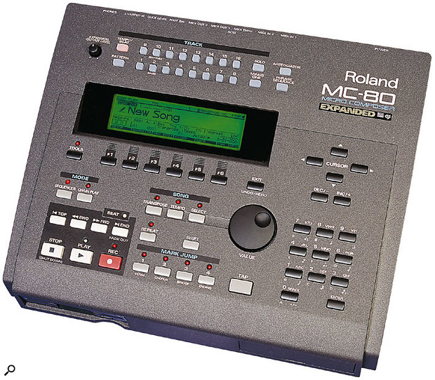 The last to date in the honourable line of Roland's MicroComposer hardware sequencers, 1999's MC80.