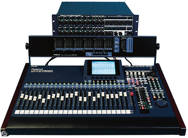 Despite strong efforts by Korg (with their 168RC) and Roland (with the V-Mixer system shown here), nobody ever really made a dent in Yamaha's dominance of the project-studio digital mixer market in the late '90s.