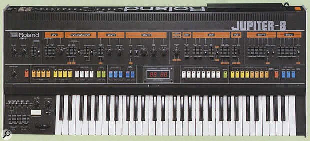 If you're looking for an example of a classic analogue polysynth, they don't come much better looking than the fabulous Jupiter 8.