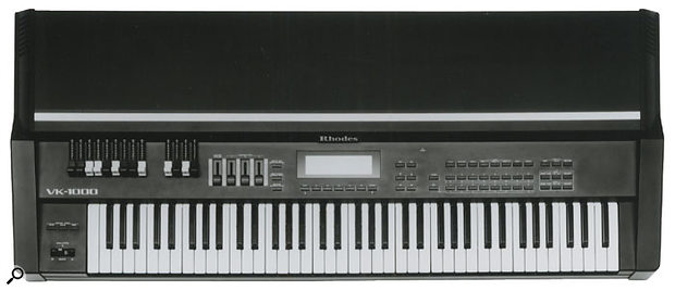 The VK1000 was perhaps the most impressive Hammond-wannabe released while Rhodes was owned by Roland, with real drawbars. It did nothing to impress Harold Rhodes, however, and the companies eventually parted.