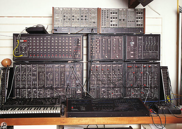 Roland's truly modular synth, 1976's System 700. The one here, shown in a picture taken in 1998, was a complete system owned by the boss of independent UK record label Mute, Daniel Miller. It was used extensively on the first three Depeche Mode albums.