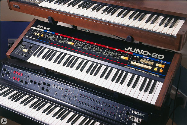 The Juno 6 was remarkable in many ways, but it did lack programmable memories. The Juno 60, launched soon thereafter, remedied this, and also offered a rear-panel DCB connector, Roland's first foray into digital interconnectivity (albeit a development rapidly surpassed by MIDI).