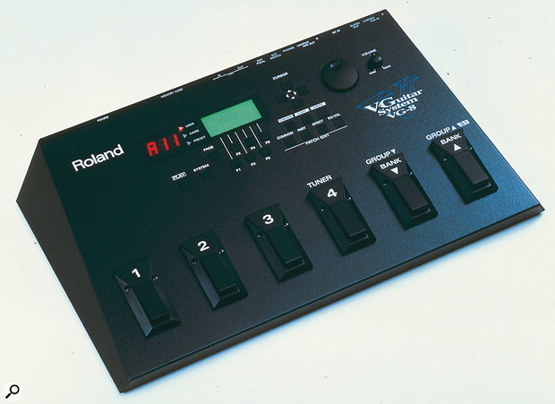 The VG8, core of the V-Guitar system, the first of Roland's commercially released (and highly successful) 'V' products (the V-Piano, supposedly the first mooted 'V' product, remains unrealised at the time of writing...).