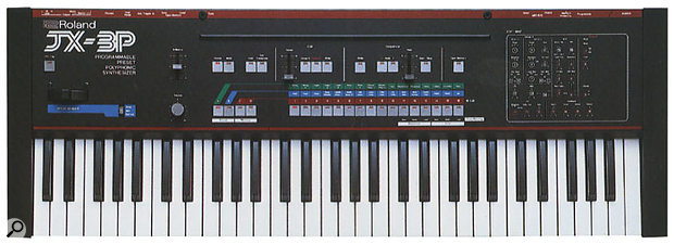 The JX3P was a great synth, but was never a big success, as it was launched at the same time as the all-conquering Yamaha DX7.