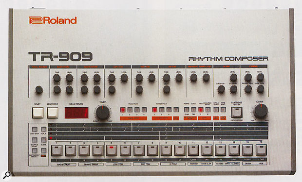 The first Roland rhythm composer to include samples alongside those classic analogue drum sounds, the TR909 became the drum machine for house music a few years after its 1983 release, mainly because it was so cheap by then!