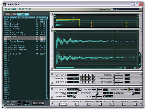 The Sample Editing screen in the v2 Editor.