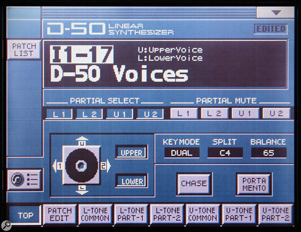 The VC1 recreates the streamlined D50 user interface perfectly.
