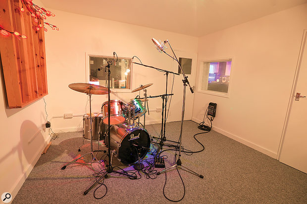 The small drum room at Jam Track Central.