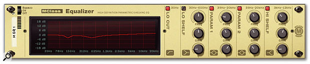 The MClass Equaliser's parametric EQs are perfect for tracking down and smoothing out frequency problems in your mix.