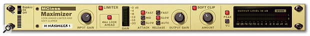 The MClass Maximiser: this peak limiter and soft clipping processor can make the difference beween a decent-sounding mix and a polished, defined, pumped-up floor-filler. Or it can make your bad mix bad but louder.