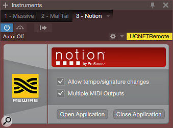 The Notion instrument object in Studio One offers a few options, the most important of which being Multiple MIDI Outputs.