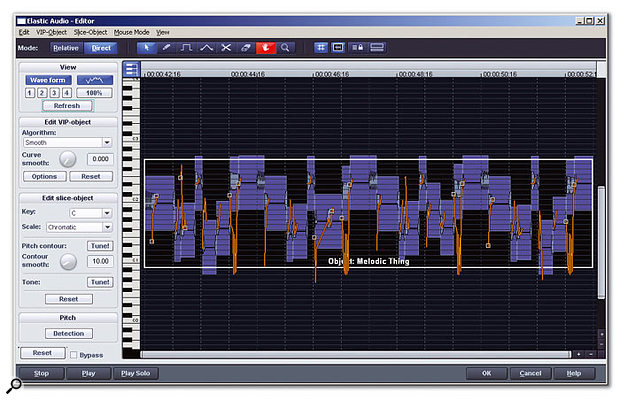 The Elastic Audio editor offers real-time pitch-shifting, with the option of Auto-Tune-style pitch detection.