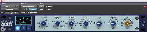 The Sand Bus 4 plug-in packages the A version of the compressor as a  separate unit.