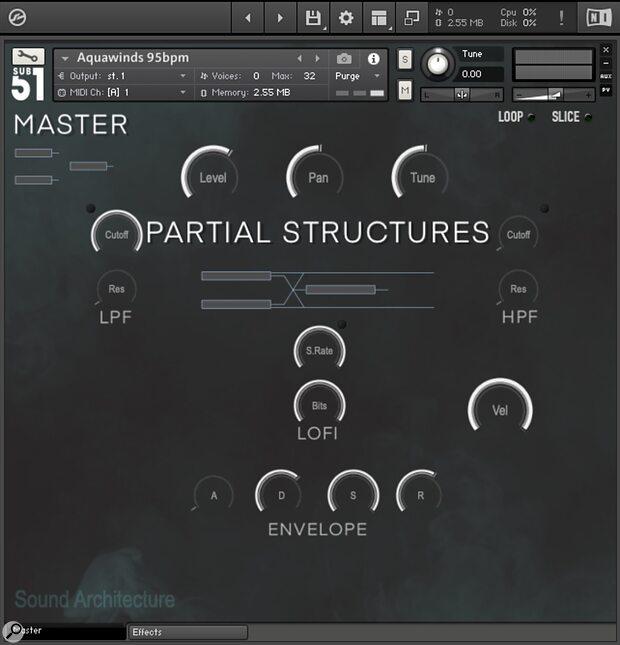 Sub51 Partial Structures