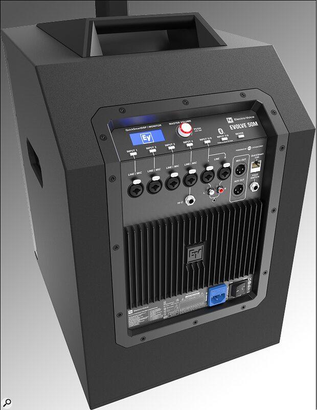 Electro-Voice Evolve 50M rear panel