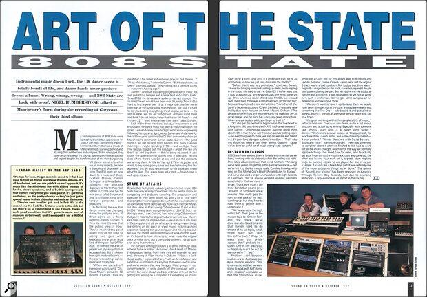 Sound On Sound 808 State interview