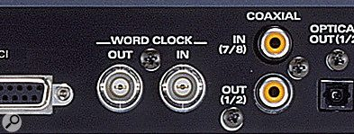 Edirol DA2496 word clock.