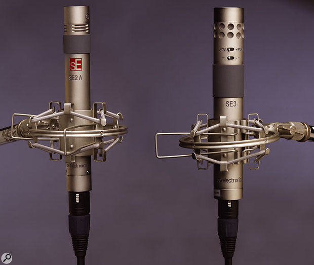 The SE Electronics SE2A fitted with its cardioid capsule.