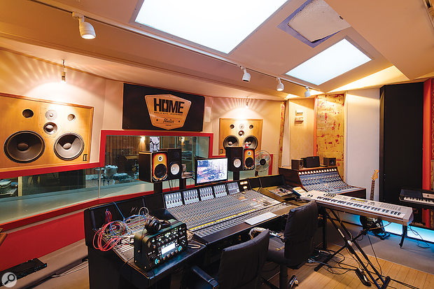 Studio 2 features an unusually large control room, designed to provide a comfortable environment for writing and relaxing as well as for mixing.