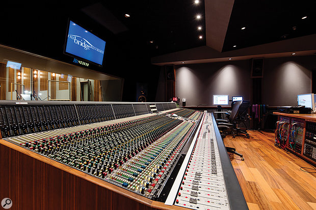 The control room is built around a  96-input Neve VSP Legend console.
