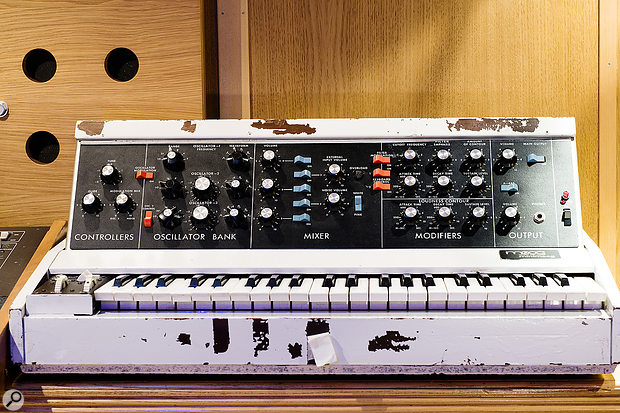 The instrument collection includes the classic Minimoog.