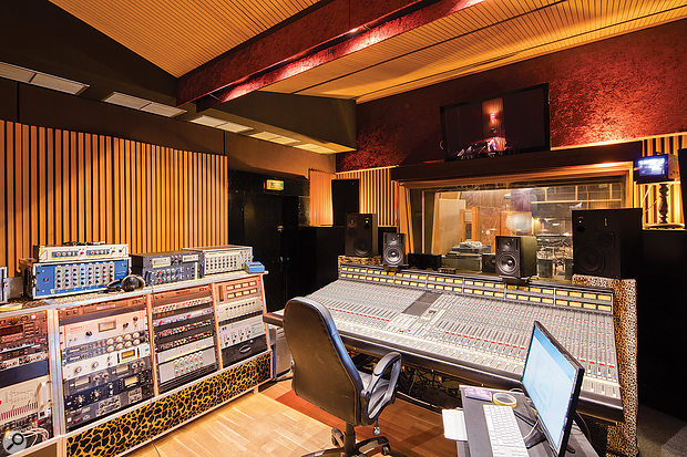 Studio A's SSL-based control room.