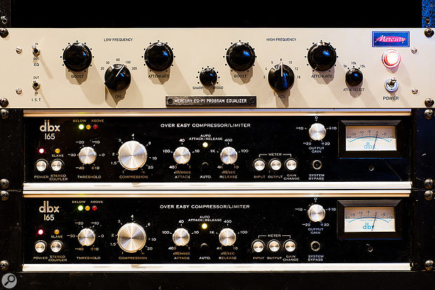 Mercury EQP1A equaliser and dbx 165 compressors.