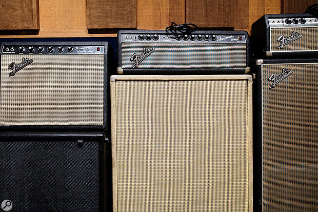 Boulevard's backline includes a dozen vintage amps by Fender, Vox, Ampeg and other manufacturers.