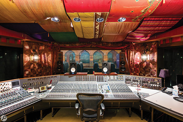 Studio B's control room, with its huge wrap-around Neve console.