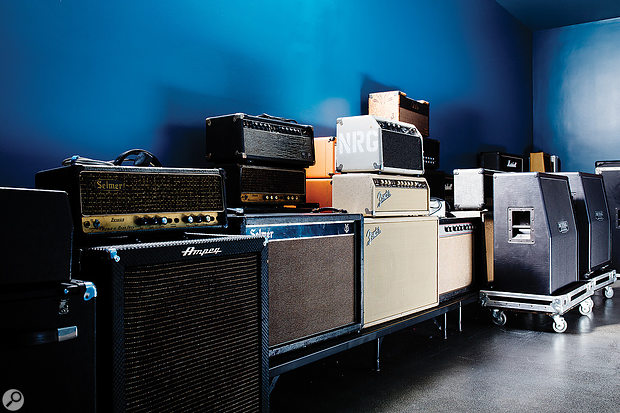 Part of the studio's enormous collection of back line equipment.