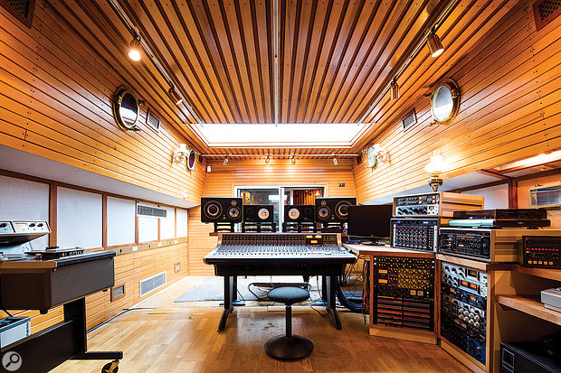 Centred around an SSL AWS948, the control room is the largest of the spaces on board Grand Cru.