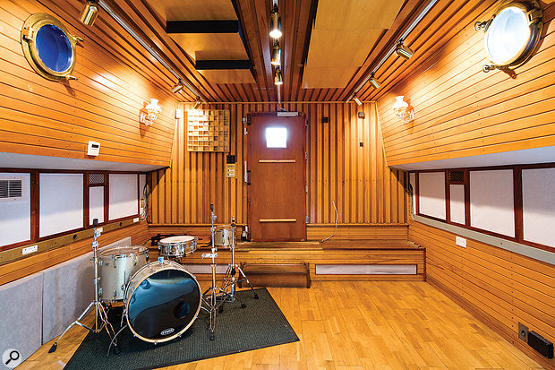 The live area offers plenty of space for typical band recording duties.