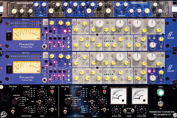 A pair of ISA430 Producer Packs and (bottom) Thermionic Culture Earlybird 2.2.