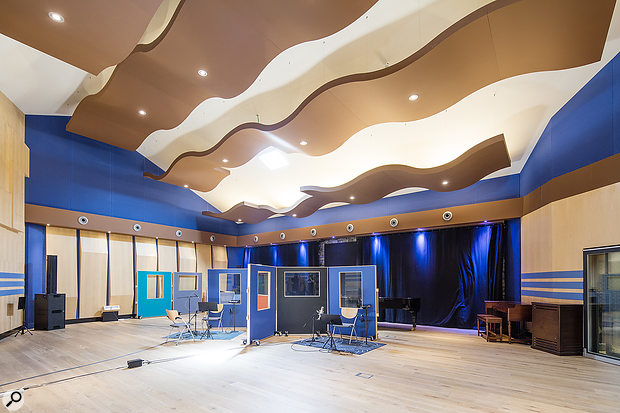 The large 'South Atlantic' live room in Studio A.