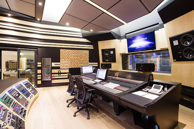 Studio A's 'North Atlantic' control room is based around a Neve 88RS console and a huge crescent-shaped outboard rack.