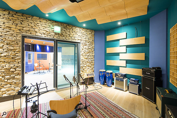 As well as the main live room, Studio A boasts several spacious isolation rooms with different sounds.