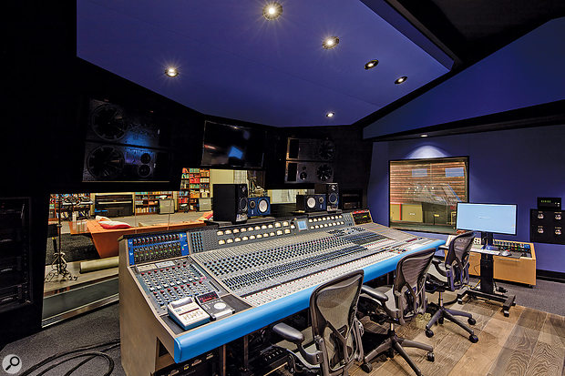 The Studio A control room is based around a 40-input Neve 8078 console.