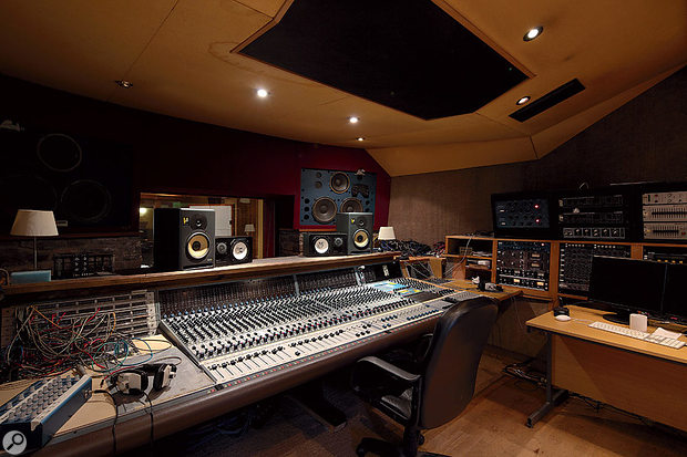 The Coach House control room is centred around a Neve 8128 console, accompanied by eight vintage Neve 1061 modules.